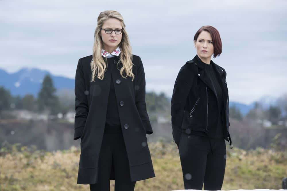 "Supergirl -- ""Schott Through the Heart"" -- Image Number: SPG314b_0092.jpg -- Pictured (L-R): Melissa Benoist as Kara/Supergirl and Chyler Leigh as Alex -- Photo: Dean Buscher/The CW -- © 2018 The CW Network, LLC. All rights reserved."