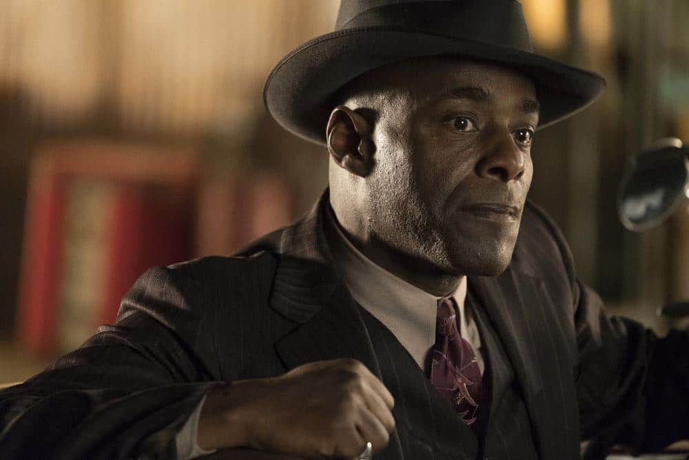 """TIMELESS -- """"King of Delta Blues"""" Episode 206 -- Pictured: Paterson Joseph as Connor Mason -- (Photo by: Justin Lubin/NBC)"""