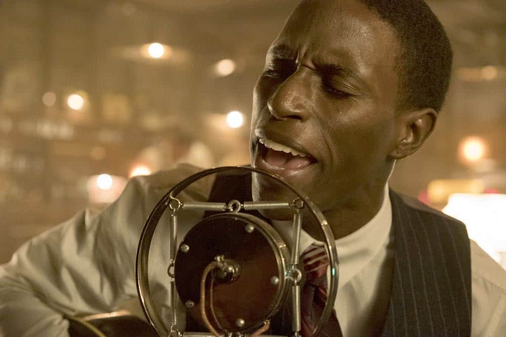 """TIMELESS -- """"King of Delta Blues"""" Episode 206 -- Pictured: Kamal Naiqui as Robert Johnson -- (Photo by: Justin Lubin/NBC)"""