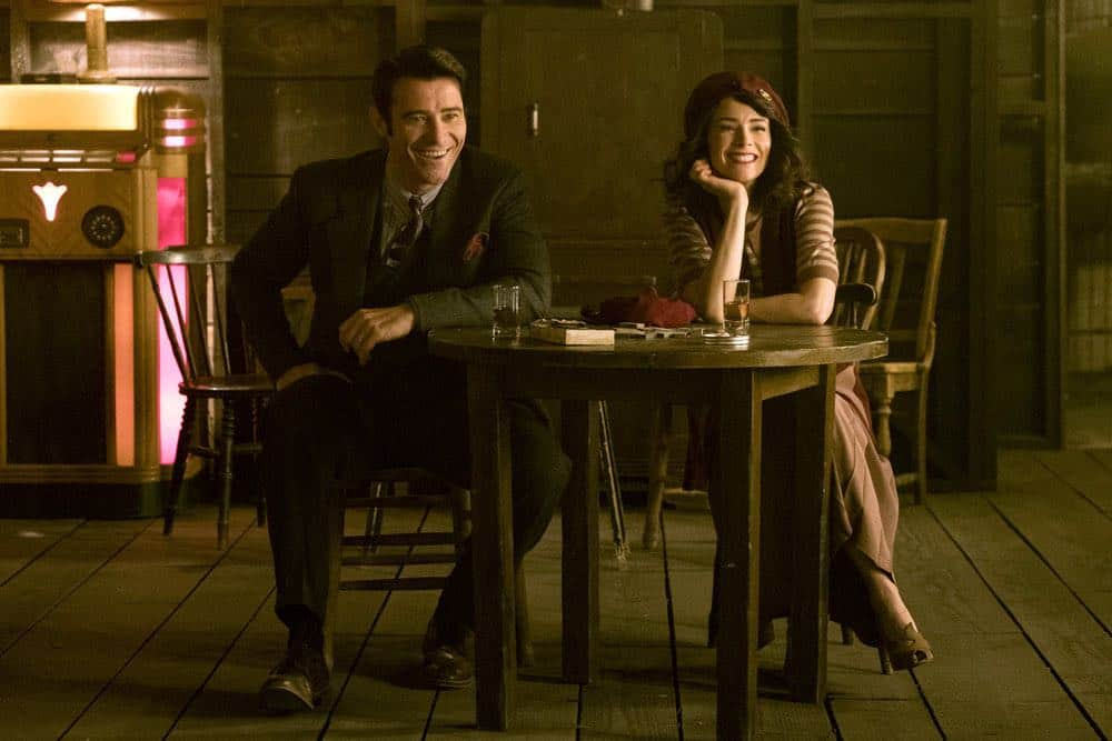 """TIMELESS -- """"King of Delta Blues"""" Episode 206 -- Pictured: (l-r) Goran Visnjic as Garcia Flynn, Abigail Spencer as Lucy Preson -- (Photo by: Justin Lubin/NBC)"""