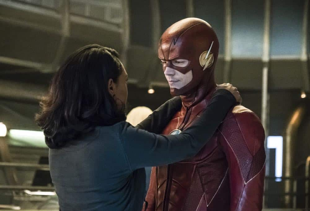 """The Flash -- """"Lose Yourself"""" -- Image Number: FLA418a_0253b.jpg -- Pictured (L-R): Candice Patton as Iris West and Grant Gustin as The Flash -- Photo: Katie Yu/The CW -- © 2018 The CW Network, LLC. All rights reserved"""