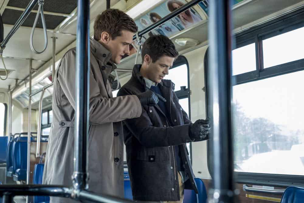 """The Flash -- """"Lose Yourself"""" -- Image Number: FLA418a_0019b.jpg -- Pictured (L-R): Hartley Sawyer as Dibney and Grant Gustin as Barry Allen -- Photo: Katie Yu/The CW -- © 2018 The CW Network, LLC. All rights reserved"""