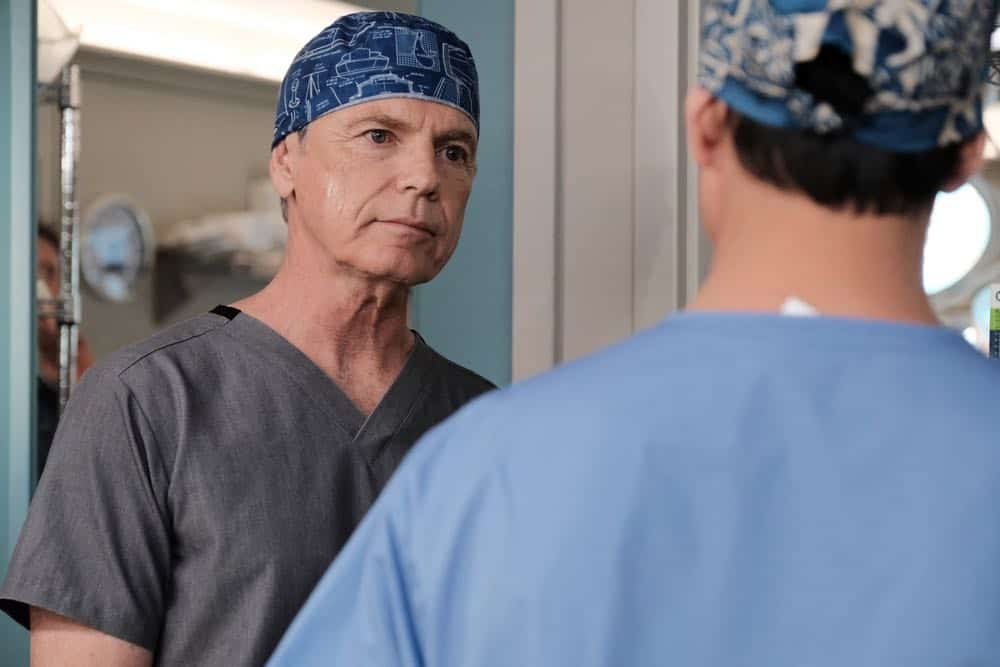 "THE RESIDENT: Bruce Greenwood in the ""And the Nurses Get Screwed…"" episode of THE RESIDENT airing Monday, April 23 (9:00-10:00 PM ET/PT) on FOX. ©2018 Fox Broadcasting Co. Cr: Guy D'Alema/FOX"