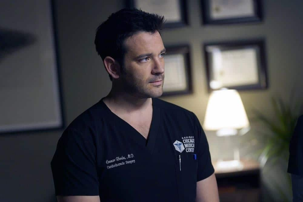 "CHICAGO MED -- ""An Inconvenient Truth"" Episode 316 -- Pictured: Colin Donnell as Connor Rhodes -- (Photo by: Elizabeth Sisson/NBC)"