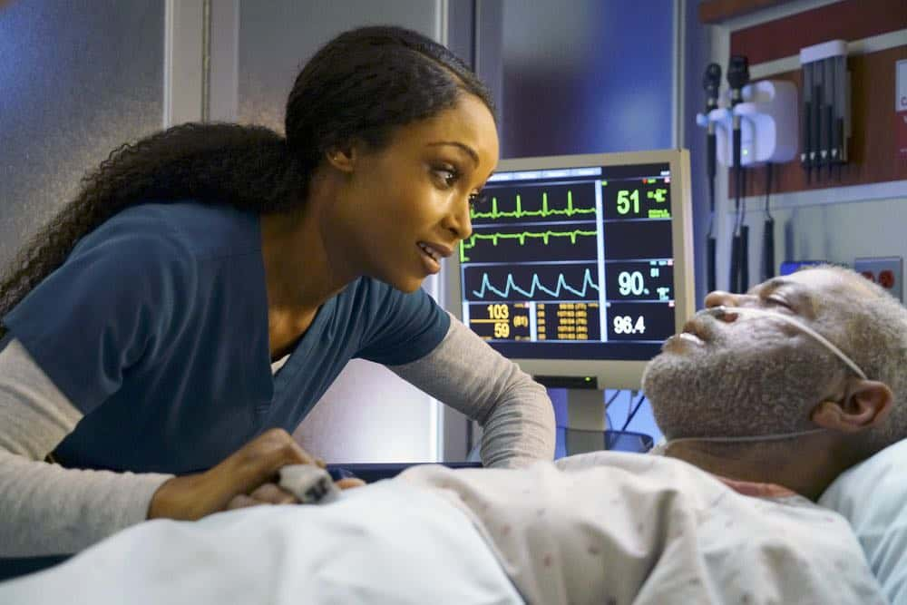 "CHICAGO MED -- ""An Inconvenient Truth"" Episode 316 -- Pictured: Yaya DaCosta as April Sexton  -- (Photo by: Elizabeth Sisson/NBC)CHICAGO MED -- ""An Inconvenient Truth"" Episode 316 -- Pictured: Yaya DaCosta as April Sexton  -- (Photo by: Elizabeth Sisson/NBC)"