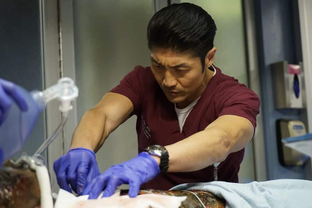 "CHICAGO MED -- ""An Inconvenient Truth"" Episode 316 -- Pictured: Brian Tee as Ethan Choi -- (Photo by: Elizabeth Sisson/NBC)"