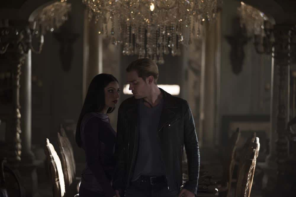 "SHADOWHUNTERS - ""A Window Into an Empty Room"" - Clary teams up with Magnus to investigate a recent demon attack. Simon is stunned with he's visited by someone he never thought he'd see again, and who now won't seem to leave. Meanwhile, Izzy worries about dinner with her family and a special guest and Luke reaches out to Maryse. This episode of ""Shadowhunters"" airs Tuesday, April 24 (8:00 - 9:00 p.m. EDT) on Freeform. (Freeform/John Medland) ANNA HOPKINS, DOMINIC SHERWOOD"