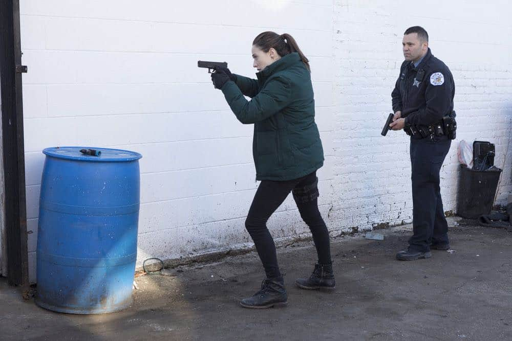 "CHICAGO P.D. -- ""Saved"" Episode 520 -- Pictured: Marina Squerciati as Kim Burgess -- (Photo by: Adrian Burrows/NBC)"