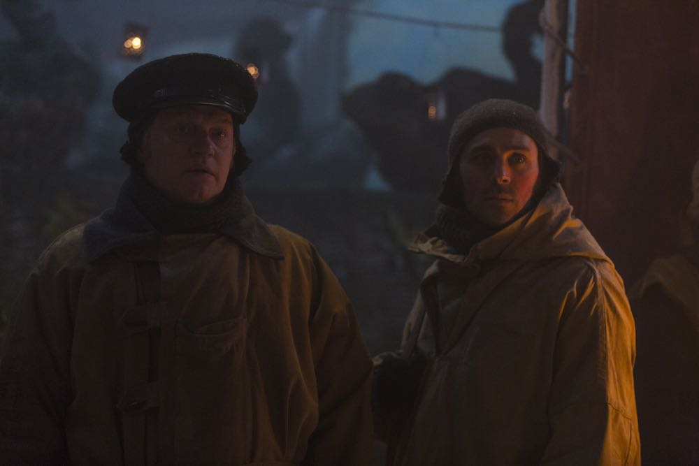Jared Harris as Francis Crozier, Liam Garrigan as Thomas Jopson - The Terror _ Season 1, Episode 6 - Photo Credit: Aidan Monaghan/AMC