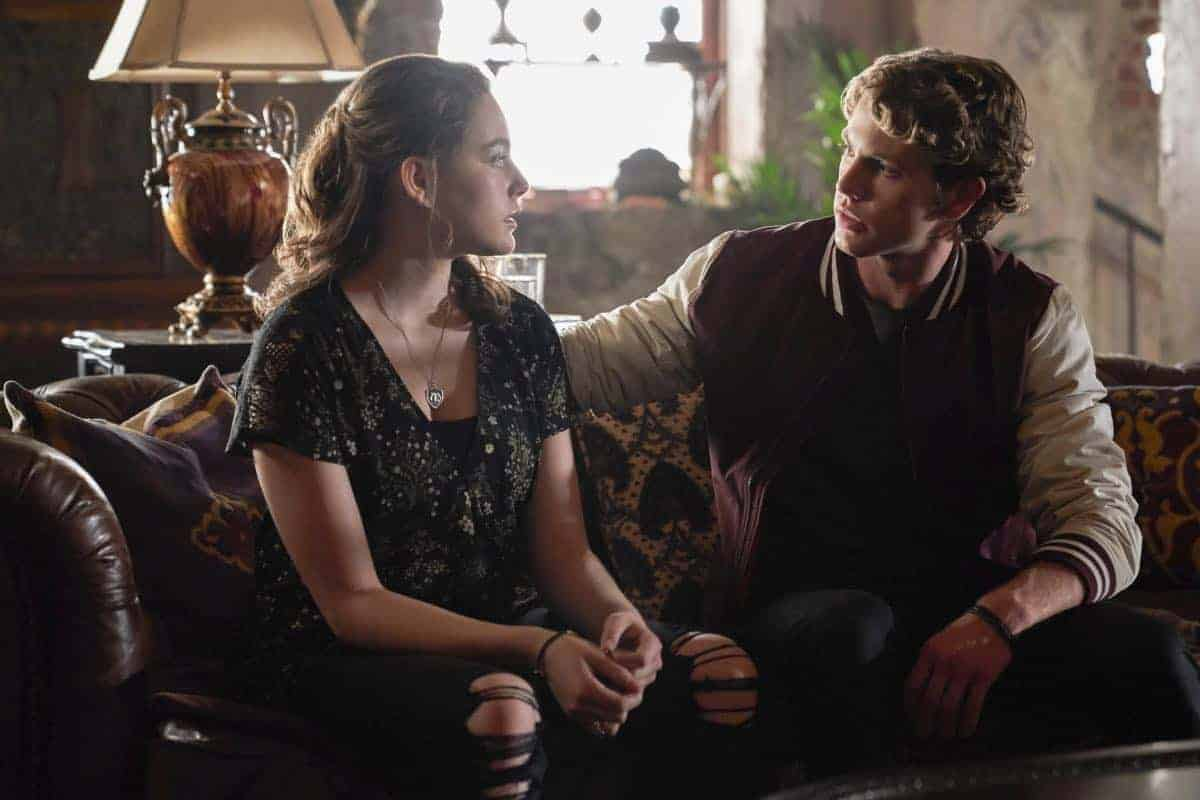 "The Originals -- ""One Wrong Turn on Bourbon"" -- Image Number: OR502A_0139b.jpg -- Pictured (L-R): Jedidiah Goodacre as Roman and Danielle Rose Russell as Hope -- Photo: Bob Mahoney/The CW -- © 2018 The CW Network, LLC. All rights reserved."