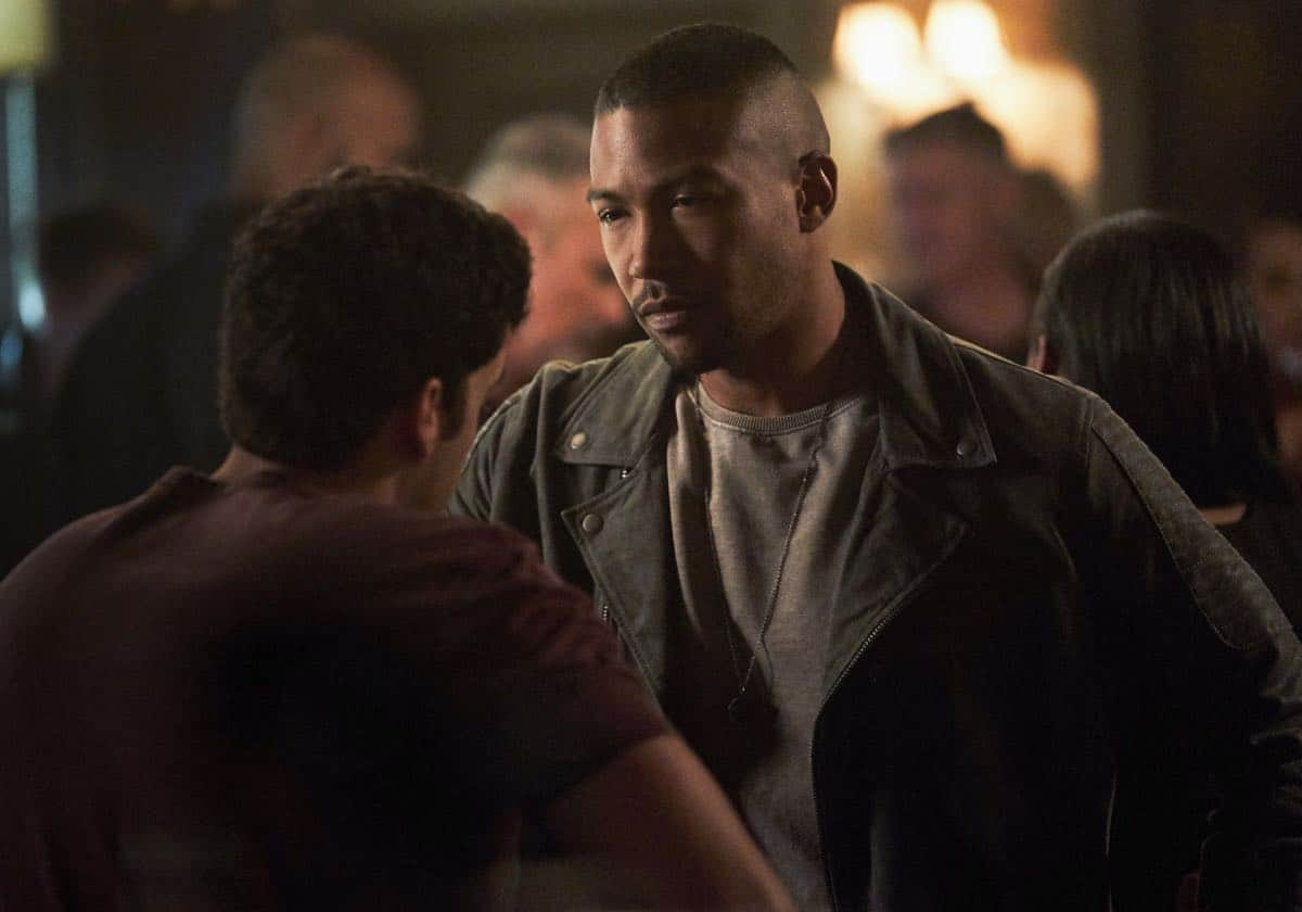 "The Originals -- ""One Wrong Turn on Bourbon"" -- Image Number: OR502B_0059b.jpg -- Pictured (L-R): Steven Krueger as Josh and Charles Michael Davis as Marcel -- Photo: Bob Mahoney/The CW -- © 2018 The CW Network, LLC. All rights reserved."