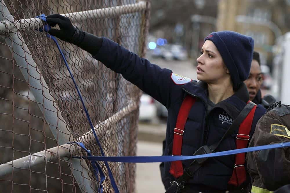 "CHICAGO FIRE -- ""Where I Want To Be"" Episode 619 -- Pictured: Miranda Rae Mayo as Stella Kidd -- (Photo by: Elizabeth Morris/NBC)"
