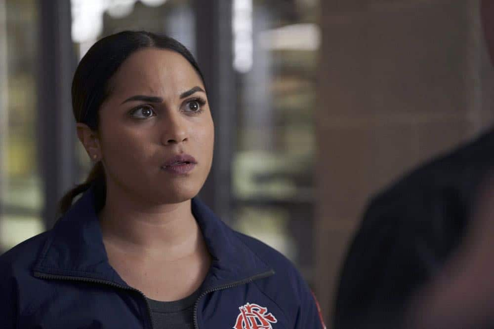"CHICAGO FIRE -- ""Where I Want To Be"" Episode 619 -- Pictured: Monica Raymund as Gabriela Dawson -- (Photo by: Elizabeth Morris/NBC)"