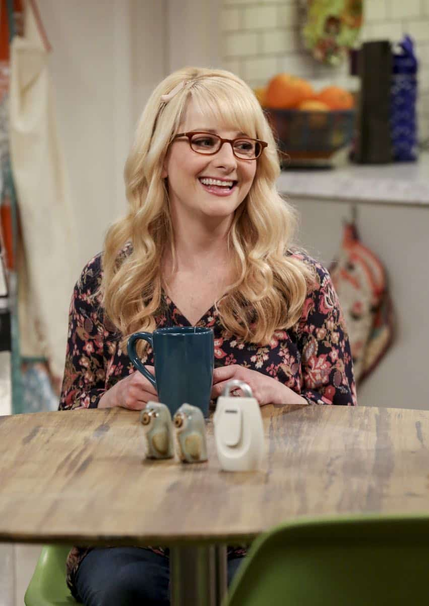 """The Monetary Insufficiency"" - Pictured: Bernadette (Melissa Rauch). Sheldon goes to Vegas to win money for science. Also, Penny and Bernadette take Amy wedding dress shopping, but her terrible choice entangles them in a web of lies, on THE BIG BANG THEORY, Thursday, April 26 (8:00-8:31 PM, ET/PT) on the CBS Television Network. Photo: Michael Yarish/CBS ©2018 CBS Broadcasting, Inc. All Rights Reserved."