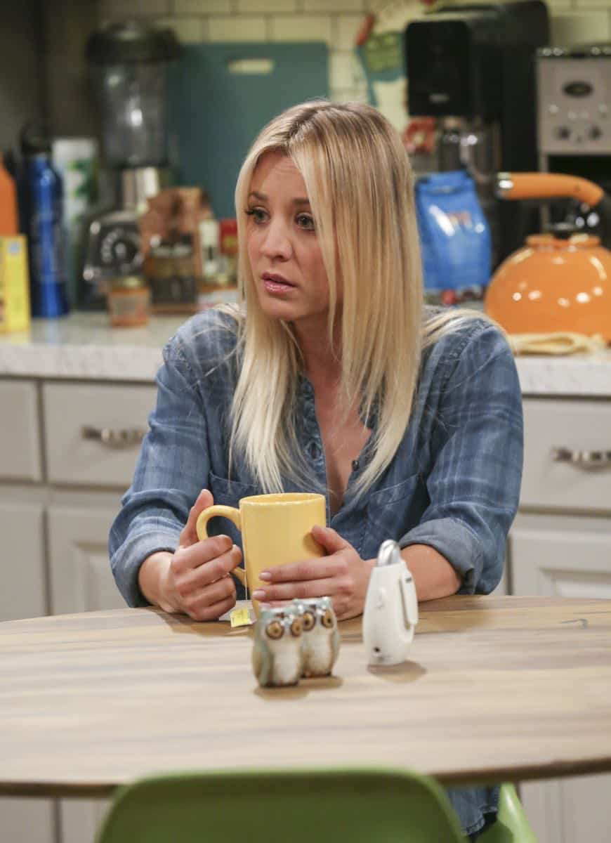 """The Monetary Insufficiency"" - Pictured: Penny (Kaley Cuoco). Sheldon goes to Vegas to win money for science. Also, Penny and Bernadette take Amy wedding dress shopping, but her terrible choice entangles them in a web of lies, on THE BIG BANG THEORY, Thursday, April 26 (8:00-8:31 PM, ET/PT) on the CBS Television Network. Photo: Michael Yarish/CBS ©2018 CBS Broadcasting, Inc. All Rights Reserved."