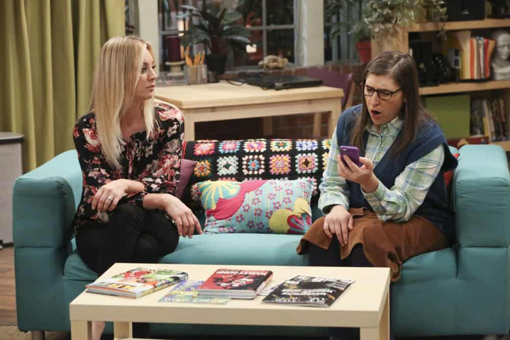 """The Monetary Insufficiency"" - Pictured: Penny (Kaley Cuoco) and Amy Farrah Fowler (Mayim Bialik). Sheldon goes to Vegas to win money for science. Also, Penny and Bernadette take Amy wedding dress shopping, but her terrible choice entangles them in a web of lies, on THE BIG BANG THEORY, Thursday, April 26 (8:00-8:31 PM, ET/PT) on the CBS Television Network. Photo: Michael Yarish/CBS ©2018 CBS Broadcasting, Inc. All Rights Reserved."