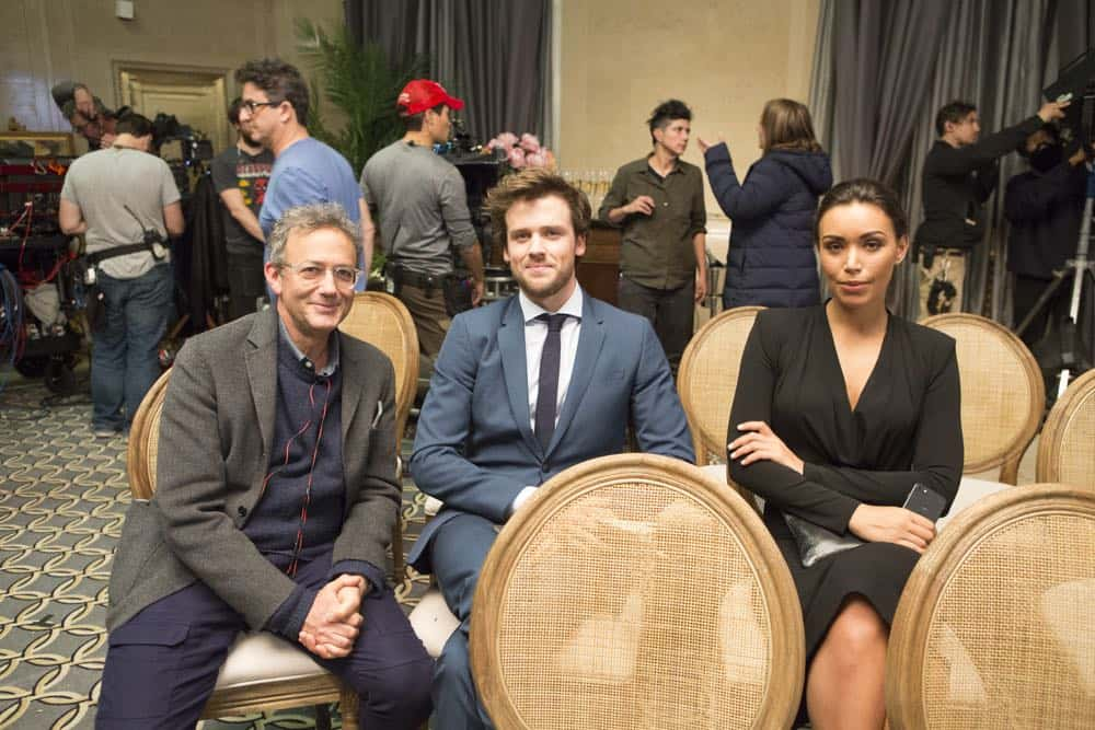 "DECEPTION - ""Sacrifice 99 to Fool One"" - The FBI calls on Jonathan Black to help stop the Mystery Woman from committing her next crime, on ABC's ""Deception,"" airing TUESDAY, APRIL 24 (10:00-11:00 p.m. EDT), on The ABC Television Network. (ABC/Giovanni Rufino) MICHAEL LEHMANN (EXECUTIVE PRODUCER), JACK CUTMORE-SCOTT, ILFENESH HADERA"