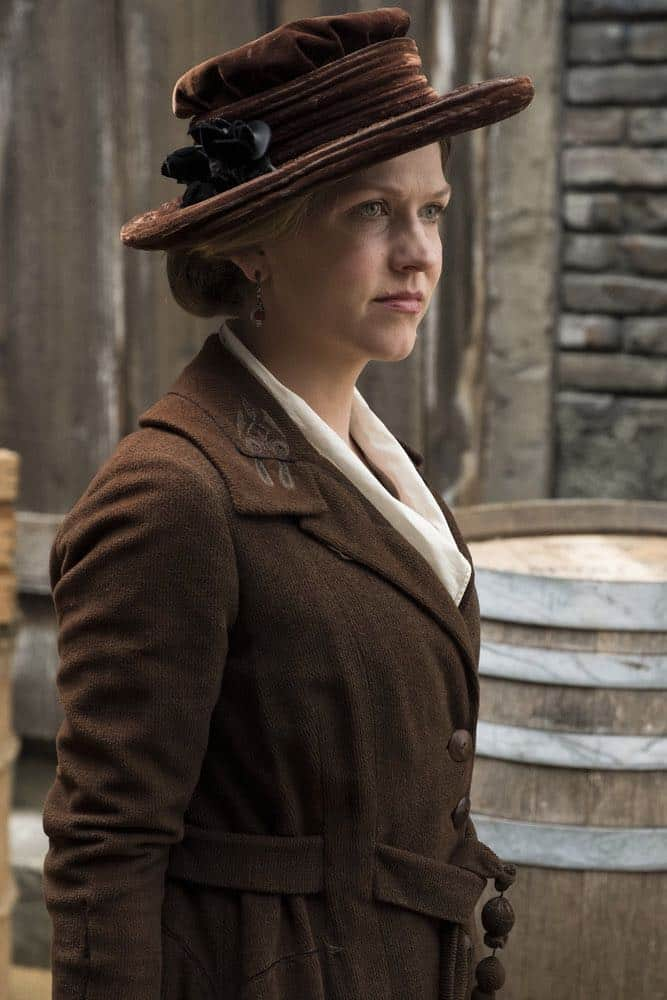 "TIMELESS -- ""Mrs. Sherlock Holmes"" Episode 207 -- Pictured: Riley Rose Critchlow as Charlotte -- (Photo by: Justin Lubin/NBC)"
