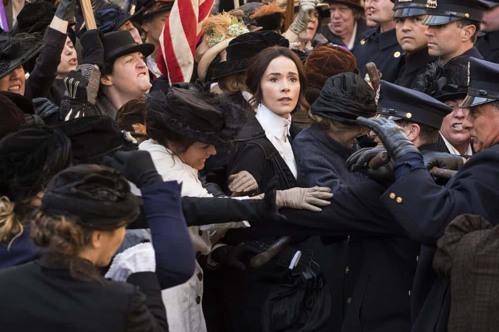 "TIMELESS -- ""Mrs. Sherlock Holmes"" Episode 207 -- Pictured: Abigail Spencer as Lucy Preston -- (Photo by: Justin Lubin/NBC)"