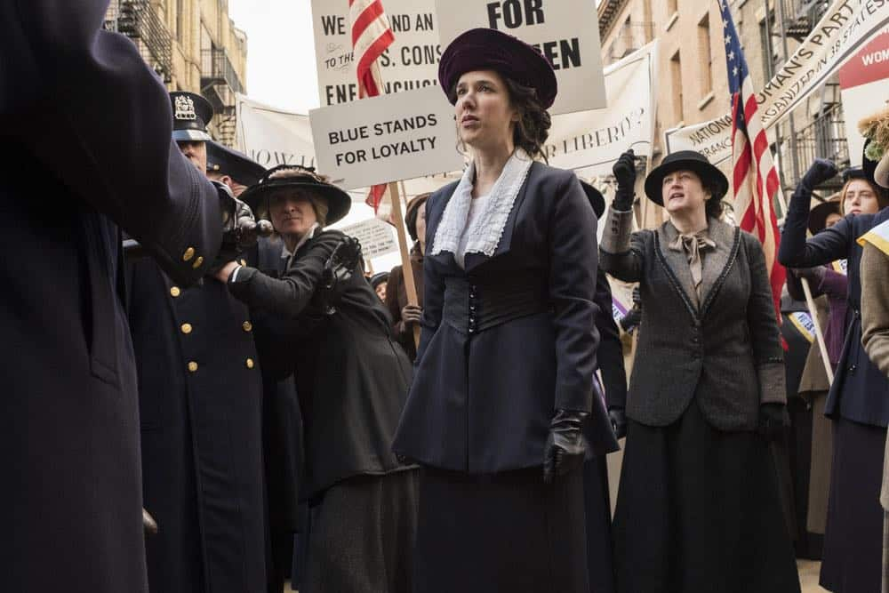 "TIMELESS -- ""Mrs. Sherlock Holmes"" Episode 207 -- Pictured: Erica Dasher as Alice Paul -- (Photo by: Justin Lubin/NBC)"