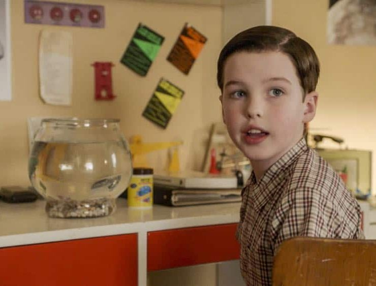 """""""A Dog, a Squirrel, and a Fish Named Fish"""" - Pictured: Sheldon (Iain Armitage). A battle erupts between the Coopers and Sparks when the Sparks' new dog terrorizes Sheldon, on YOUNG SHELDON, Thursday, April 26 (8:31-9:01 PM, ET/PT) on the CBS Television Network. Photo: Screen Grab/Warner Bros. Entertainment Inc. © 2018 WBEI. All rights reserved."""