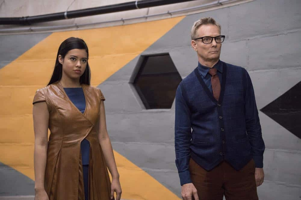 "LEGION -- ""Chapter 12"" - Season 2, Episode 4 (Airs Tuesday, April 24, 10:00 pm/ep) -- Pictured: Amber Midthunder as Kerry Loudermilk, Bill Irwin as Cary Loudermilk. CR: Suzanne Tenner/FX"
