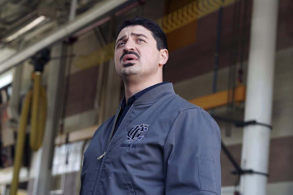 "CHICAGO FIRE -- ""The Strongest Among Us"" Episode 620 -- Pictured: Yuri Sardarov as Otis -- (Photo by: Elizabeth Morris/NBC)"