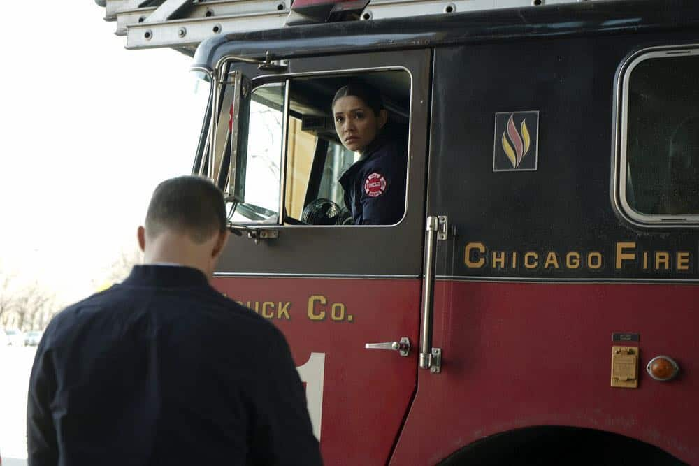 "CHICAGO FIRE -- ""The Strongest Among Us"" Episode 620 -- Pictured: Miranda Rae Mayo as Stella Kidd -- (Photo by: Elizabeth Morris/NBC)"