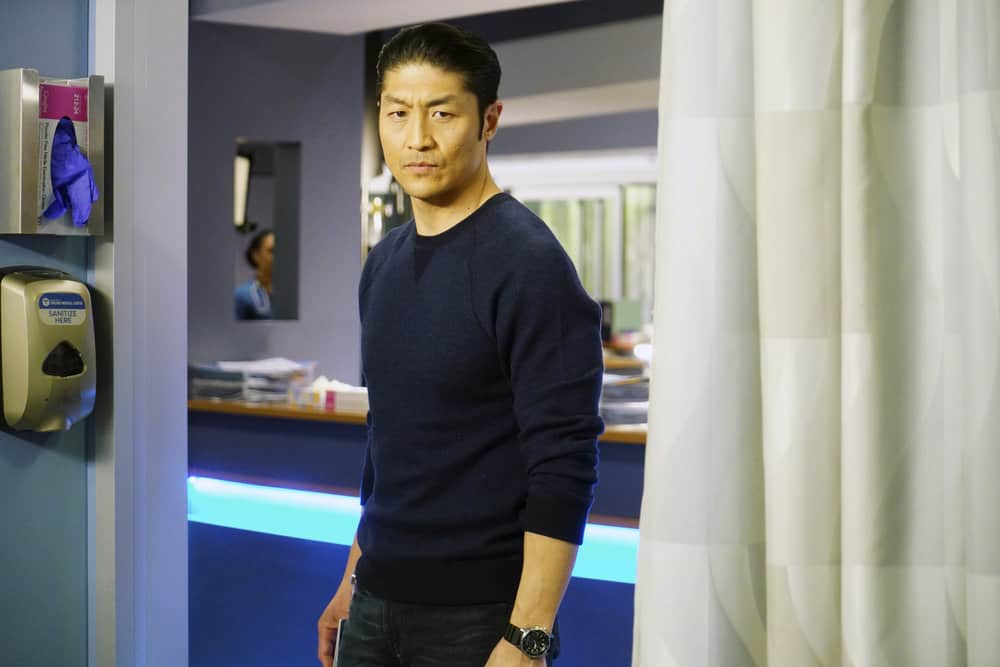 "CHICAGO MED -- ""The Parent Trap"" Episode 317 -- Pictured: Brian Tee as Ethan Choi -- (Photo by: Elizabeth Sisson/NBC)"