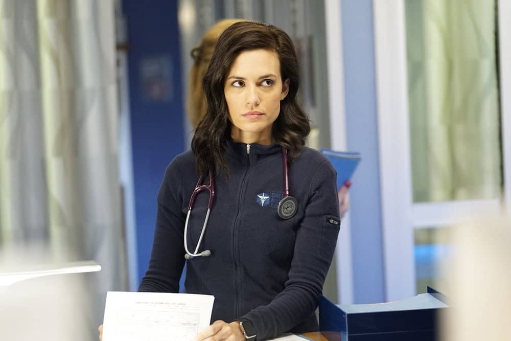 "CHICAGO MED -- ""The Parent Trap"" Episode 317 -- Pictured: Torrey DeVitto as Natalie Manning -- (Photo by: Elizabeth Sisson/NBC)"