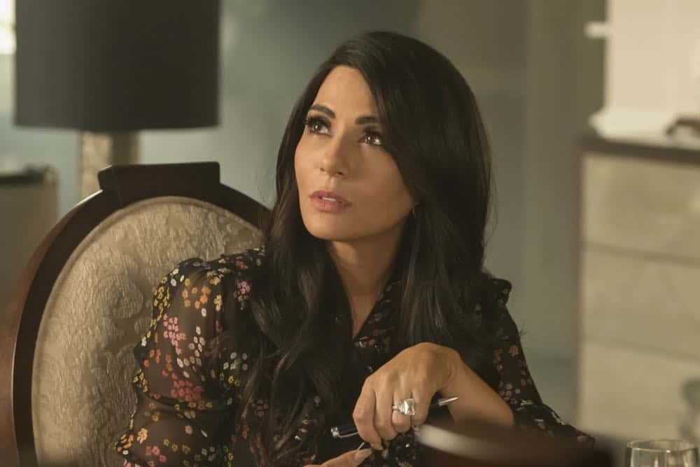 "Riverdale -- ""Chapter Thirty-Two: Prisoners"" -- Image Number: RVD219a_0160.jpg -- Pictured: Marisol Nichols as Hermione -- Photo: Katie Yu/The CW -- © 2018 The CW Network, LLC. All Rights Reserved."