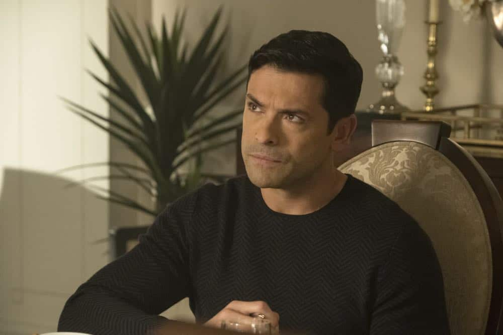"Riverdale -- ""Chapter Thirty-Two: Prisoners"" -- Image Number: RVD219a_0220.jpg -- Pictured: Mark Consuelos as Hiram -- Photo: Katie Yu/The CW -- © 2018 The CW Network, LLC. All Rights Reserved."