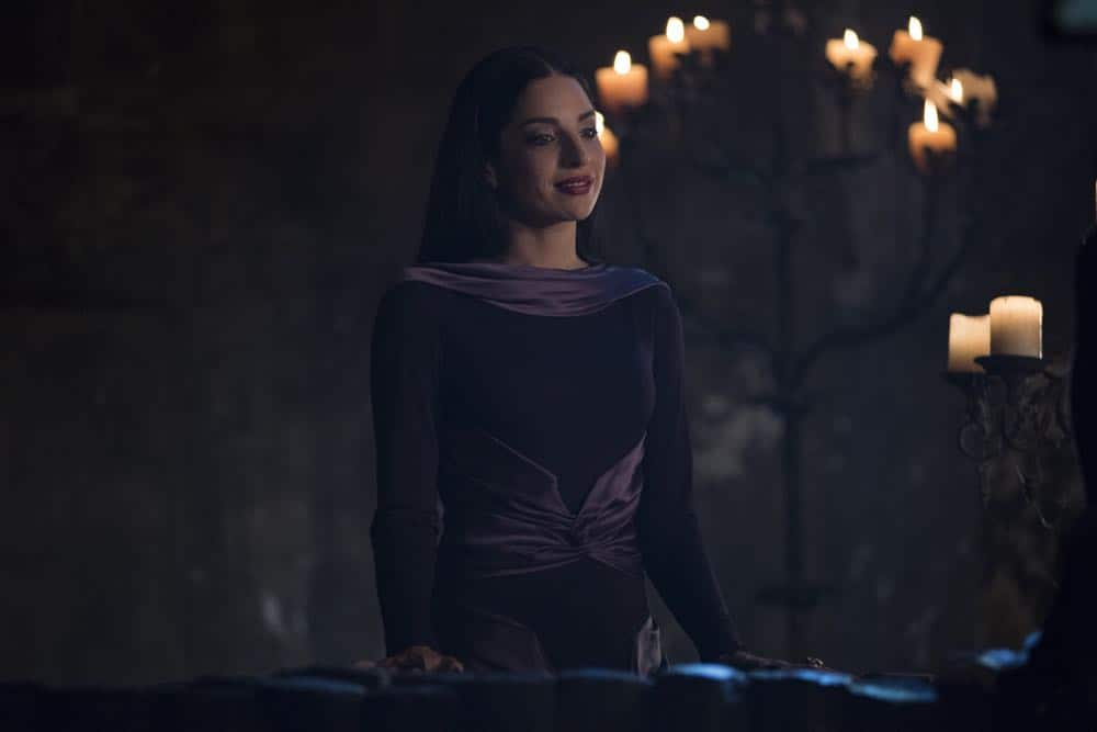 """SHADOWHUNTERS - """"Salt In The Wound"""" - With the Owl's identity revealed, Alec, Isabelle, and Clary head to Alicante to try and find a way to stop him. Luke and Simon team up to track Lilith's  latest possible victim. Maia reflects on her past. This episode of """"Shadowhunters"""" airs Tuesday, May 1 (8:00 - 9:00 p.m. EDT) on Freeform. (Freeform/John Medland) ANNA HOPKINS"""