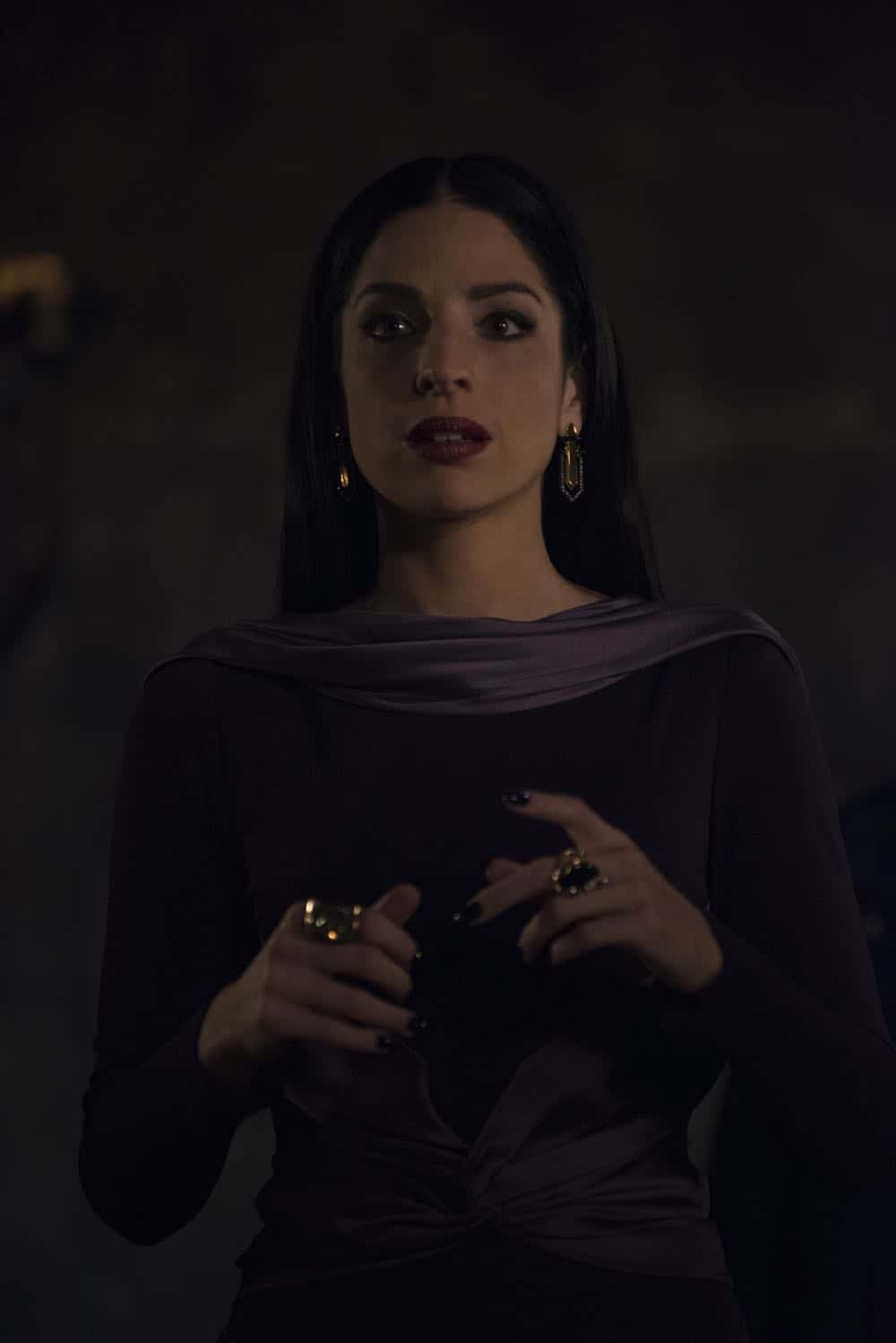 "SHADOWHUNTERS - ""Salt In The Wound"" - With the Owl's identity revealed, Alec, Isabelle, and Clary head to Alicante to try and find a way to stop him. Luke and Simon team up to track Lilith's  latest possible victim. Maia reflects on her past. This episode of ""Shadowhunters"" airs Tuesday, May 1 (8:00 - 9:00 p.m. EDT) on Freeform. (Freeform/John Medland) ANNA HOPKINS"