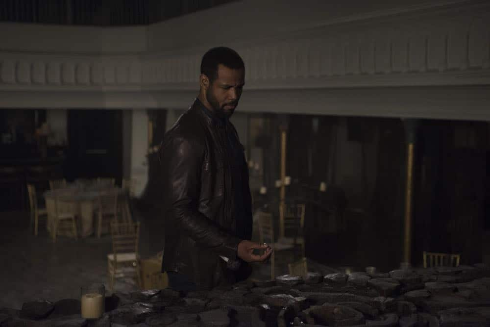 "SHADOWHUNTERS - ""Salt In The Wound"" - With the Owl's identity revealed, Alec, Isabelle, and Clary head to Alicante to try and find a way to stop him. Luke and Simon team up to track Lilith's  latest possible victim. Maia reflects on her past. This episode of ""Shadowhunters"" airs Tuesday, May 1 (8:00 - 9:00 p.m. EDT) on Freeform. (Freeform/John Medland) ISAIAH MUSTAFA"