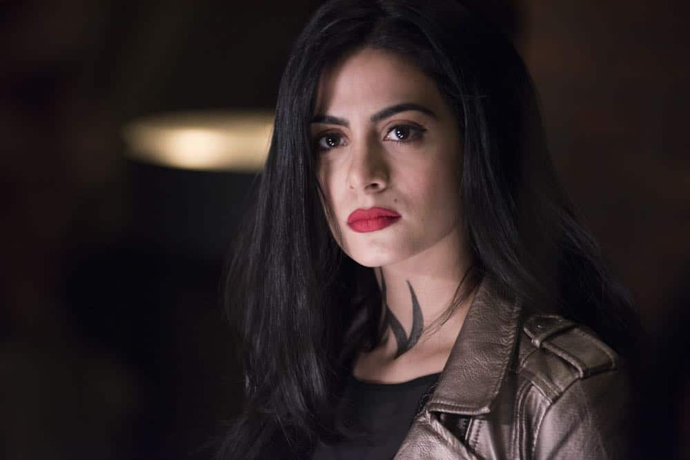 """SHADOWHUNTERS - """"Salt In The Wound"""" - With the Owl's identity revealed, Alec, Isabelle, and Clary head to Alicante to try and find a way to stop him. Luke and Simon team up to track Lilith's  latest possible victim. Maia reflects on her past. This episode of """"Shadowhunters"""" airs Tuesday, May 1 (8:00 - 9:00 p.m. EDT) on Freeform. (Freeform/John Medland) EMERAUDE TOUBIA"""