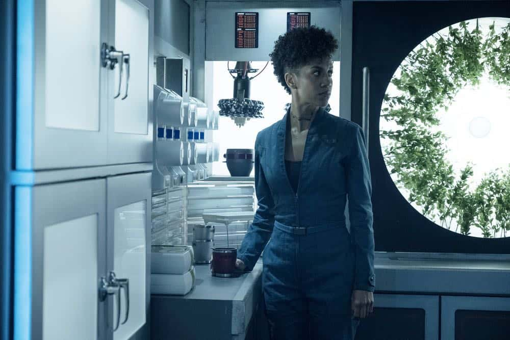 "THE EXPANSE -- ""Assured Destruction"" Episode 303 -- Pictured: Dominique Tipper as Naomi Nagata -- (Photo by: Rafy/Syfy)"