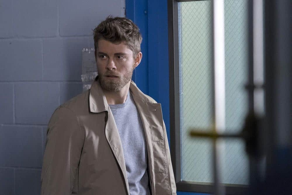"BLINDSPOT -- ""Galaxy of Minds"" Episode 319 -- Pictured: Luke Mitchell as Roman -- (Photo by: David Giesbrecht/NBC/Warner Bros)"