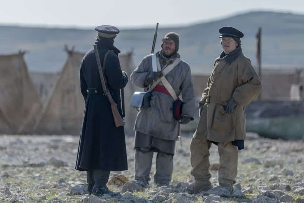 Jack Colgrave Hirst as Tom Hartnell, Jared Harris as Francis Crozier - The Terror _ Season 1, Episode 7 - Photo Credit: Aidan Monaghan/AMC