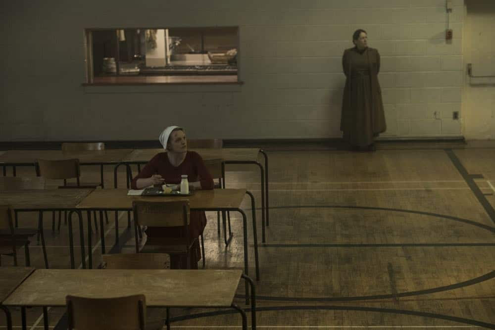 "THE HANDMAID'S TALE -- ""June"" -- Episode 201 -- Offred reckons with the consequences of a dangerous decision while haunted by memories from her past and the violent beginnings of Gilead. (Photo by:George Kraychyk/Hulu)"