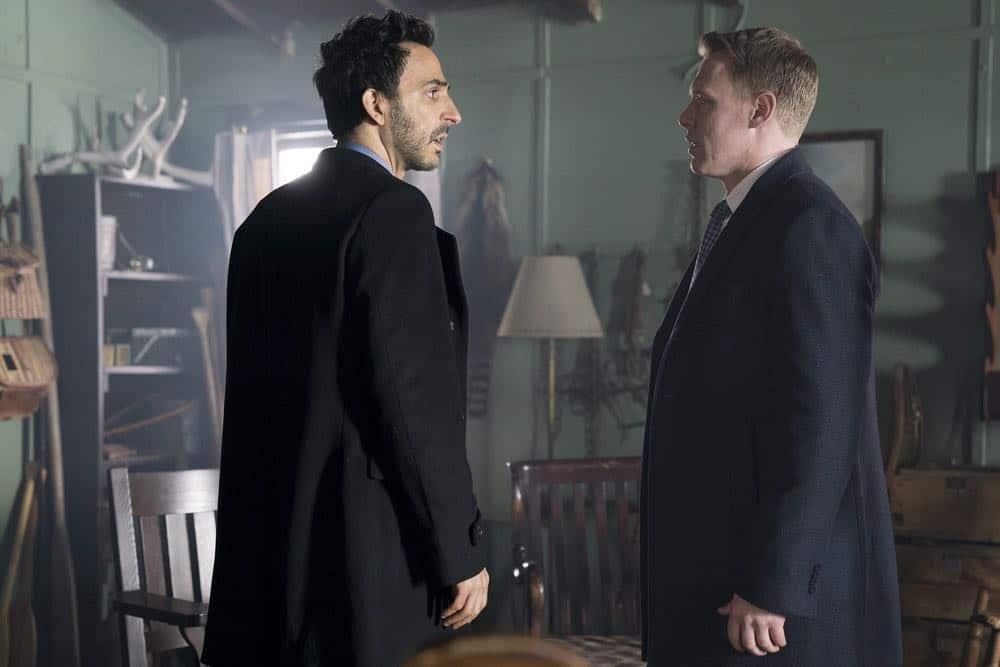 """THE BLACKLIST -- """"Nicholas T. Moore (#110)"""" Episode 520 -- Pictured: (l-r) Amir Arison as Aram Mojtabai, Diego Klattenhoff as Donald Ressler -- (Photo by: Scott Gries/NBC)"""