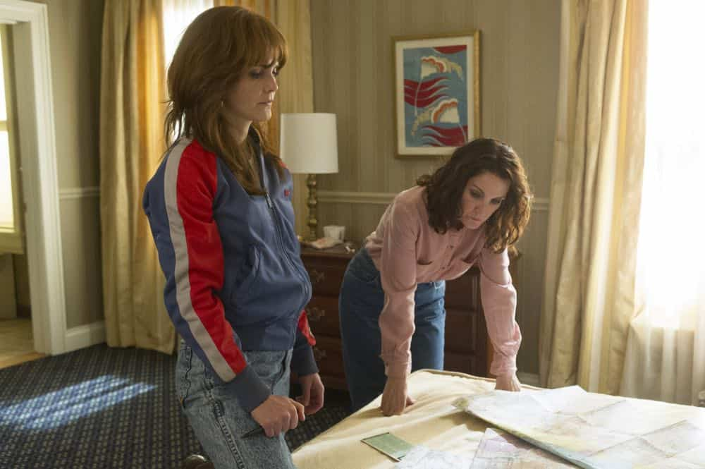 "THE AMERICANS -- ""Rififi"" -- Season 6, Episode 6 (Airs Wednesday, May 2, 10:00 pm/ep) -- Pictured: (l-r) Keri Russell as Elizabeth Jennings, Amy Tribbey as Marilyn. CR: Jeffrey Neira/FX"