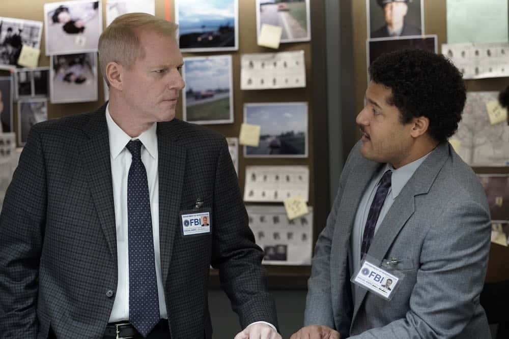 "THE AMERICANS -- ""Rififi"" -- Season 6, Episode 6 (Airs Wednesday, May 2, 10:00 pm/ep) -- Pictured: (l-r) Noah Emmerich as Stan Beeman, Brandon J. Dirden as Dennis Aderholt. CR: Patrick Harbron/FX"