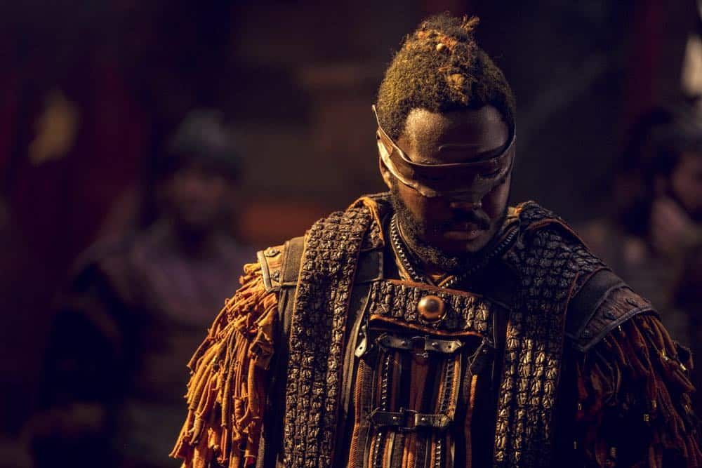 Babou Ceesay as Pilgrim - Into the Badlands _ Season 3, Episode 2 - Photo Credit: Aidan Monaghan/AMC