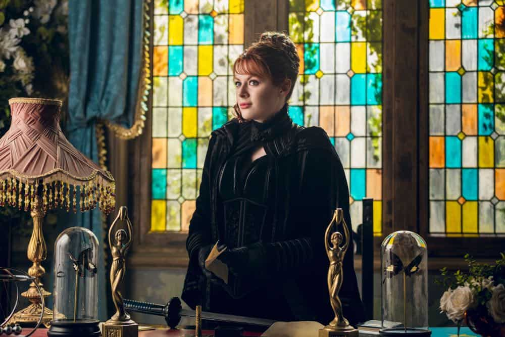 Emily Beecham as The Widow - Into the Badlands _ Season 3, Episode 2 - Photo Credit: Aidan Monaghan/AMC