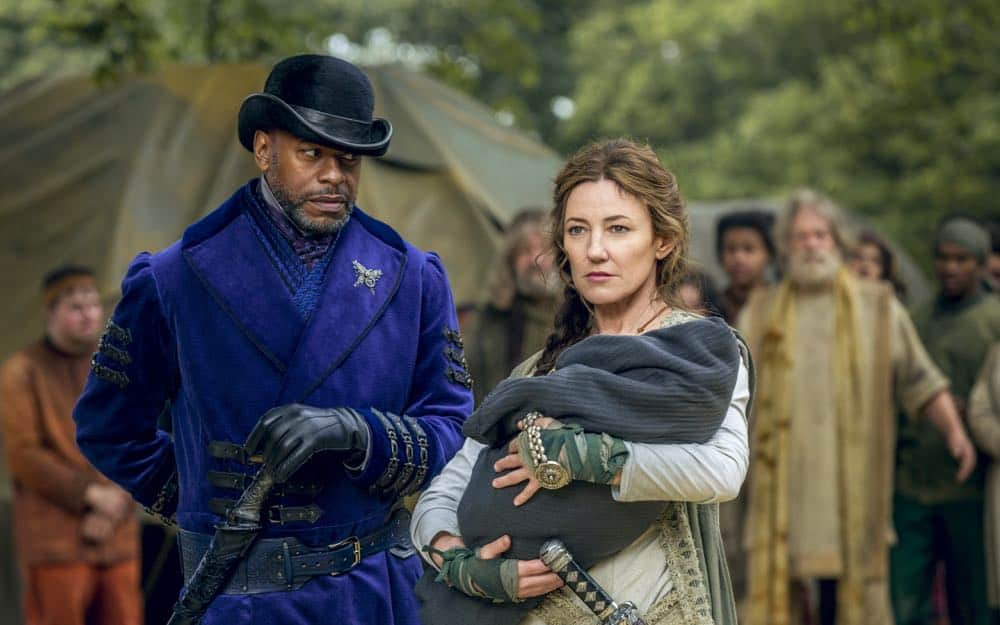 Sherman Augustus as Moon, Orla Brady as Lydia - Into the Badlands _ Season 3, Episode 2 - Photo Credit: Aidan Monaghan/AMC