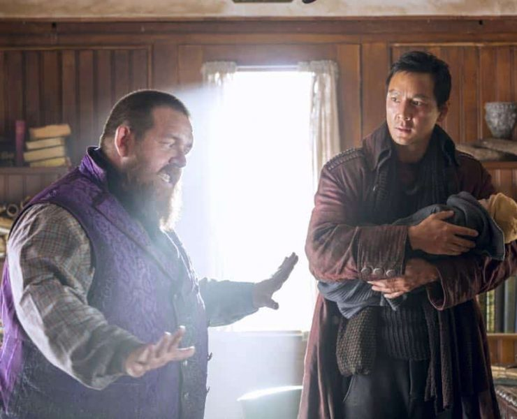 Daniel Wu as Sunny, Nick Frost as Bajie - Into the Badlands _ Season 3, Episode 2 - Photo Credit: Aidan Monaghan/AMC