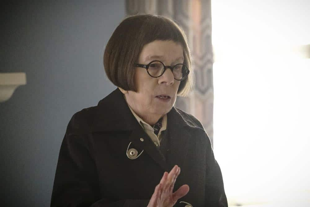 """Reentry"" - Pictured: Linda Hunt (Henrietta ""Hetty"" Lange). Callen, Sam and Nell travel to the Angeles Forest to search for pieces of a failed rocket launch, including a top-secret government device. Also, Hetty tries to help Keane (Jeff Kober) acclimate to life in the states, on NCIS: LOS ANGELES, Sunday, April 29 (9:00-10:00 PM, ET/PT) on the CBS Television Network. Photo: Bill Inoshita/CBS ©2018 CBS Broadcasting, Inc. All Rights Reserved."