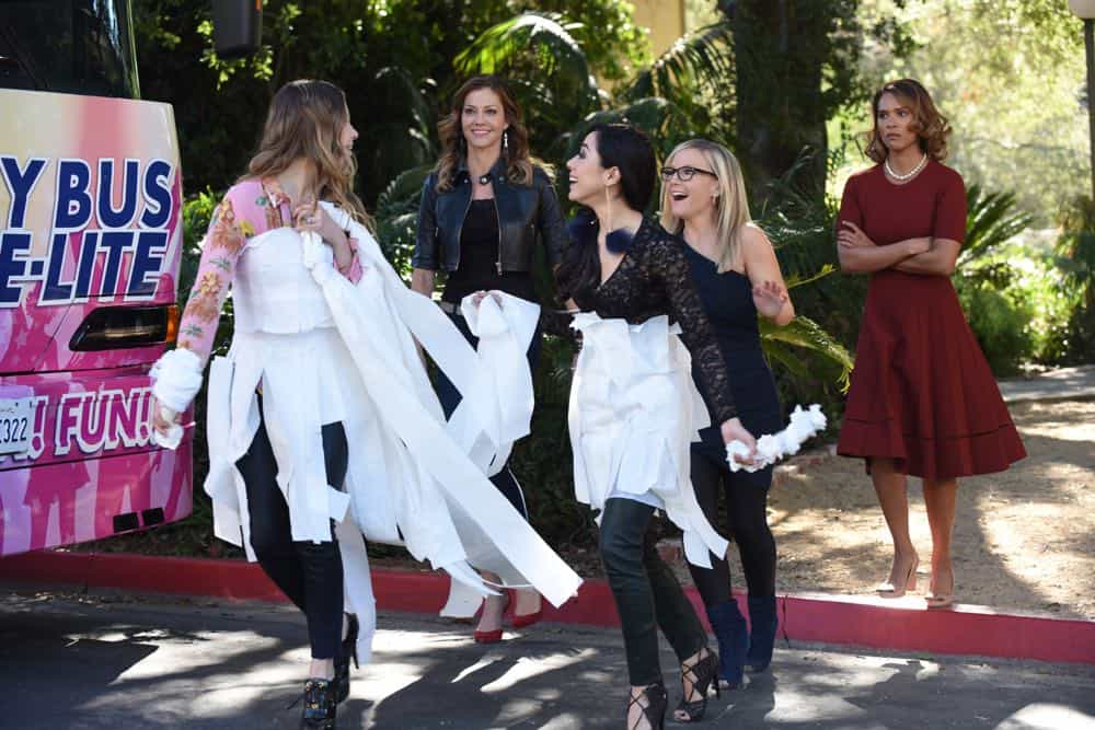 "LUCIFER: L-R: Lauren German, Tricia Helfer, Aimee Garcia, Rachael Harris and Lesley-Ann Brandt in the ""All Hands on Decker"" episode of LUCIFER airing Monday, April 30 (8:00-9:00 PM ET/PT) on FOX. CR: FOX"