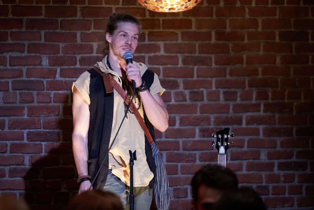 "BROOKLYN NINE-NINE: Guest star Blake Anderson in the ""Bachelor/ette Party"" episode of BROOKLYN NINE-NINE airing Sunday, April 29 (8:30-9:00 PM ET/PT) on FOX. CR: FOX"